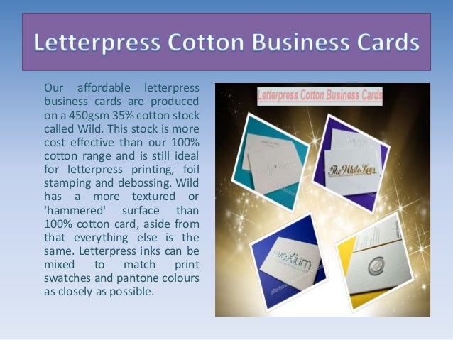Letterpress cotton business cards on thick 600gsm 4 reheart Images