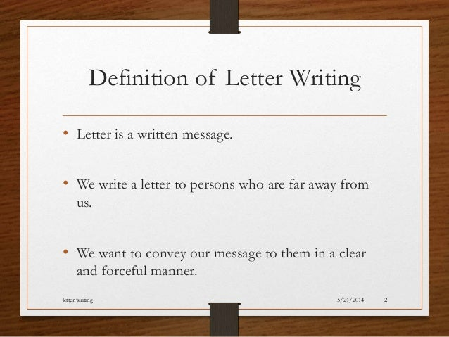 letter wriitng