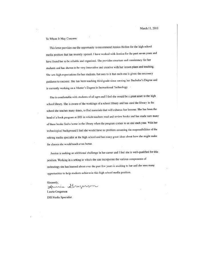Letter Rec Gregerson