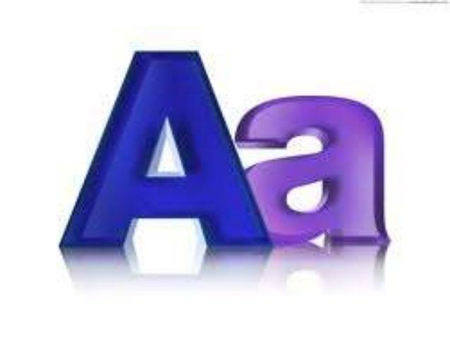 English Alphabet with words
