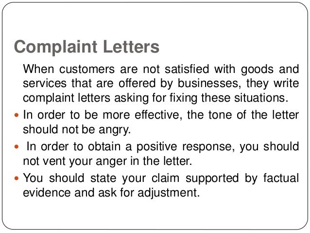 how to write a complaint letter sample