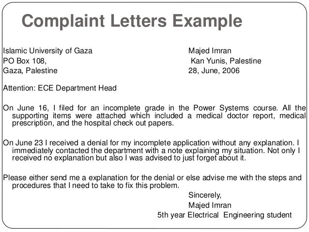 How To Write A Formal Complaint Letter Against A Teacher