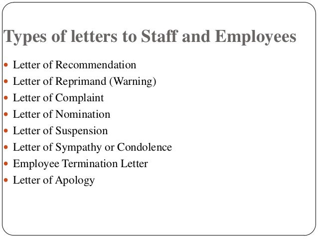 Letters 2 staff