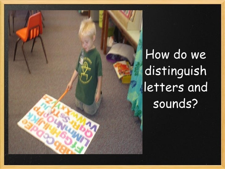 How do we distinguish letters and sounds?