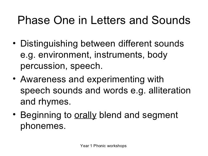Letters and sounds summary of phases 1 to 6