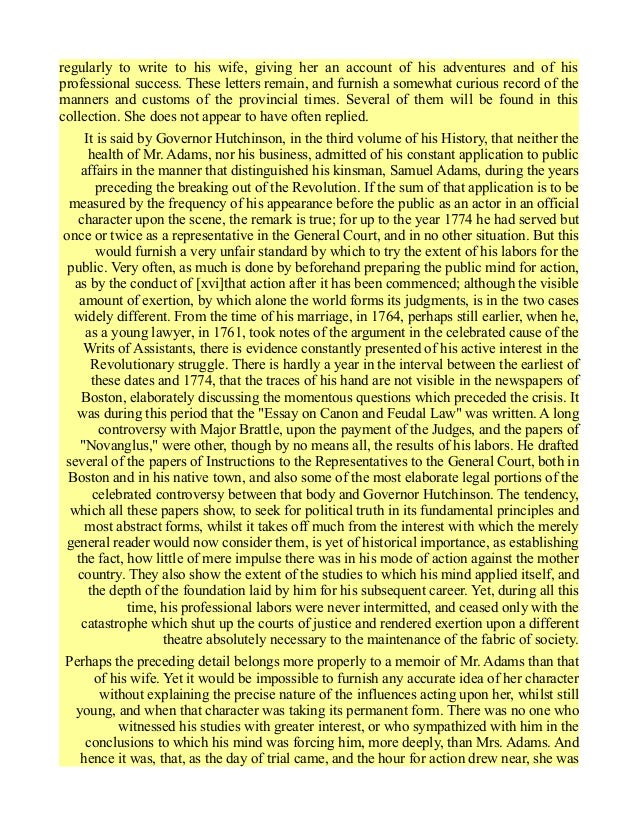 Letters Between John and Abigail Adams During the American