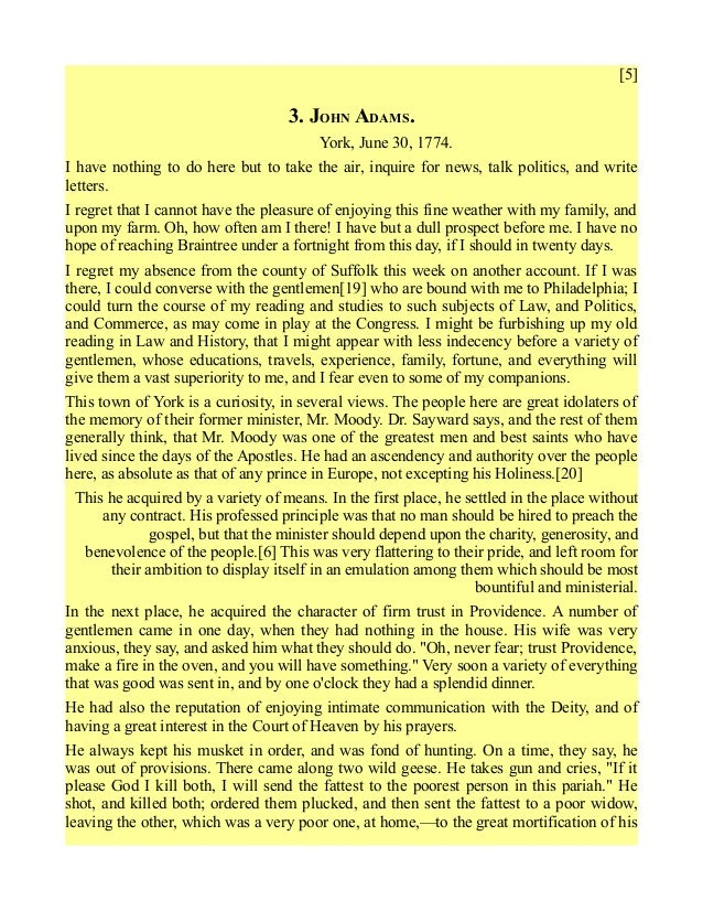an analysis of the techniques used by abigail adams in her letter - john adams, in a letter to abigail adams as the wife of john adams, abigail used her position to character analysis on abigail williams from.