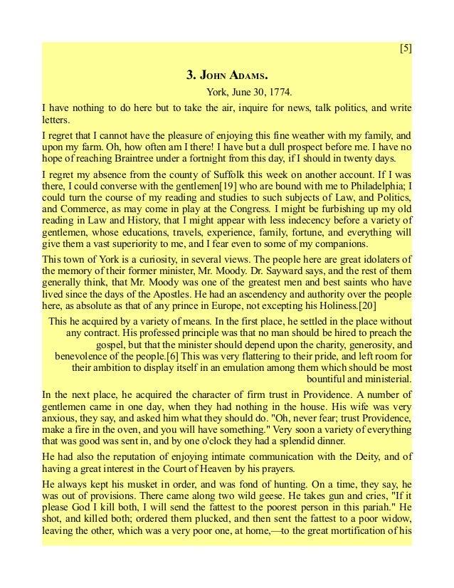 abigail adams letters to john adams