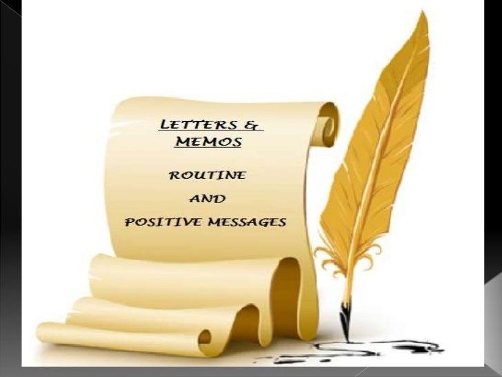 memos letter