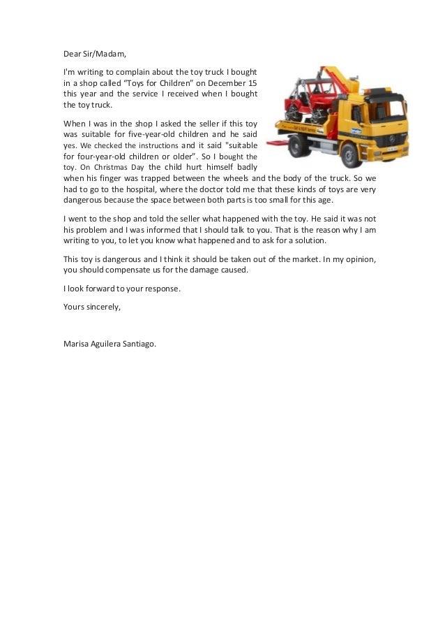Formal Complaint Letter. Customer Complaint Response Letter ...