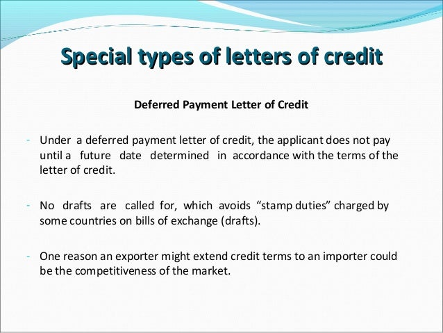 letters  credit
