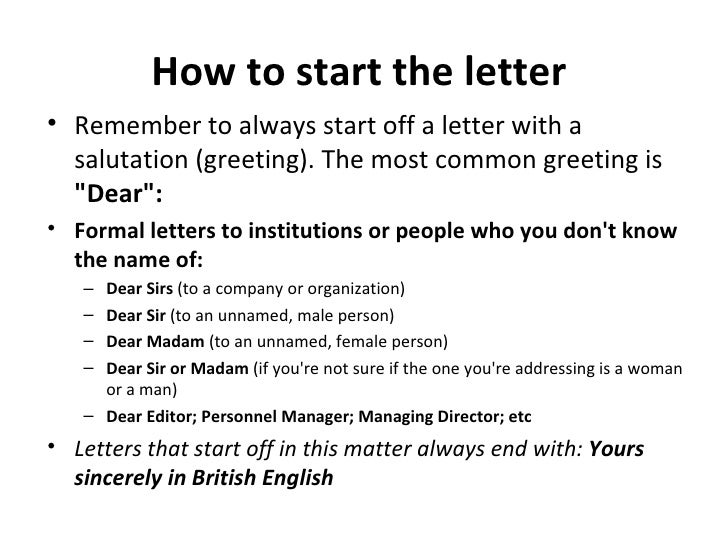 Good How To Start The Letter ...  How To Start A Letter