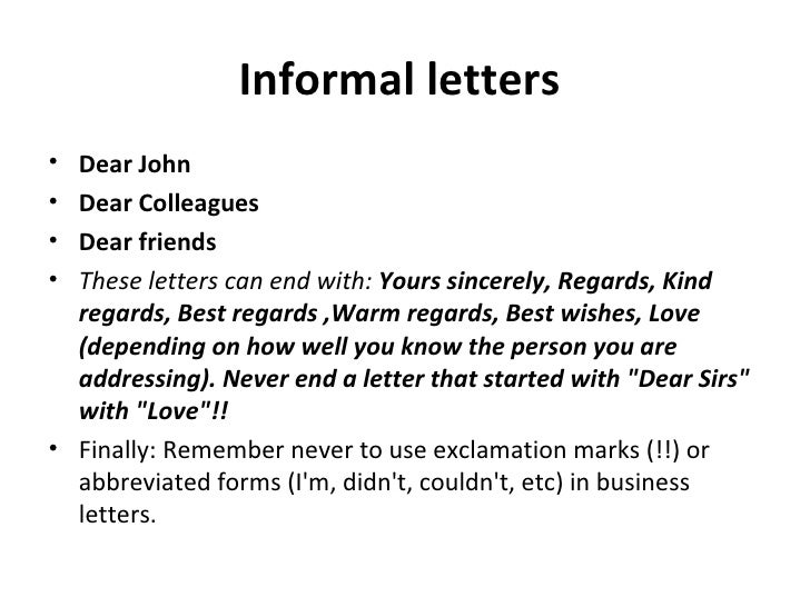 How To End Letter Starting With Dear