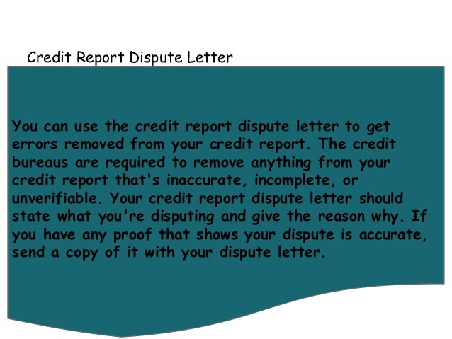 Letters you can use to fix your credit for Letters to fix credit