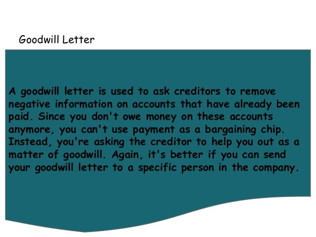 Letters you can use to fix your credit 5 goodwill letter a spiritdancerdesigns Images