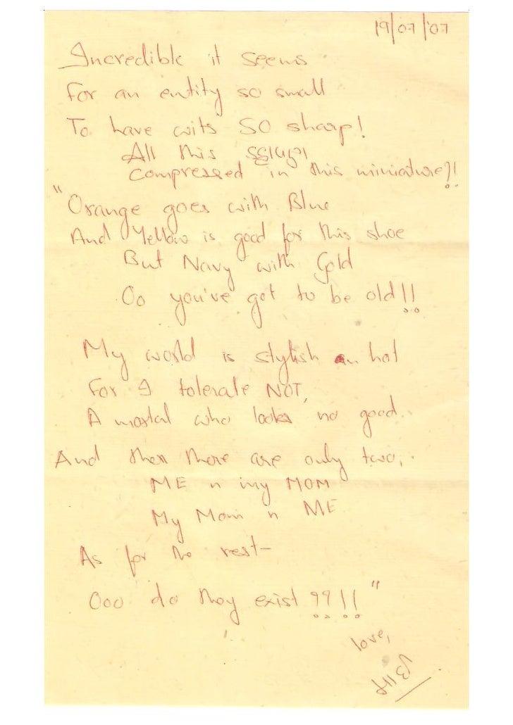 Letter To Aaryana 2007