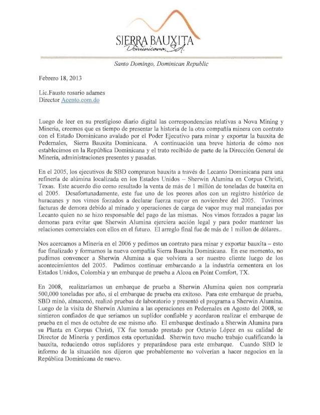 Santo Domingo, Dominican RepublicFebrero 18, 2013Lie.Fausto rosario adamesDirector Acento.com.doLuego de leer en su presti...