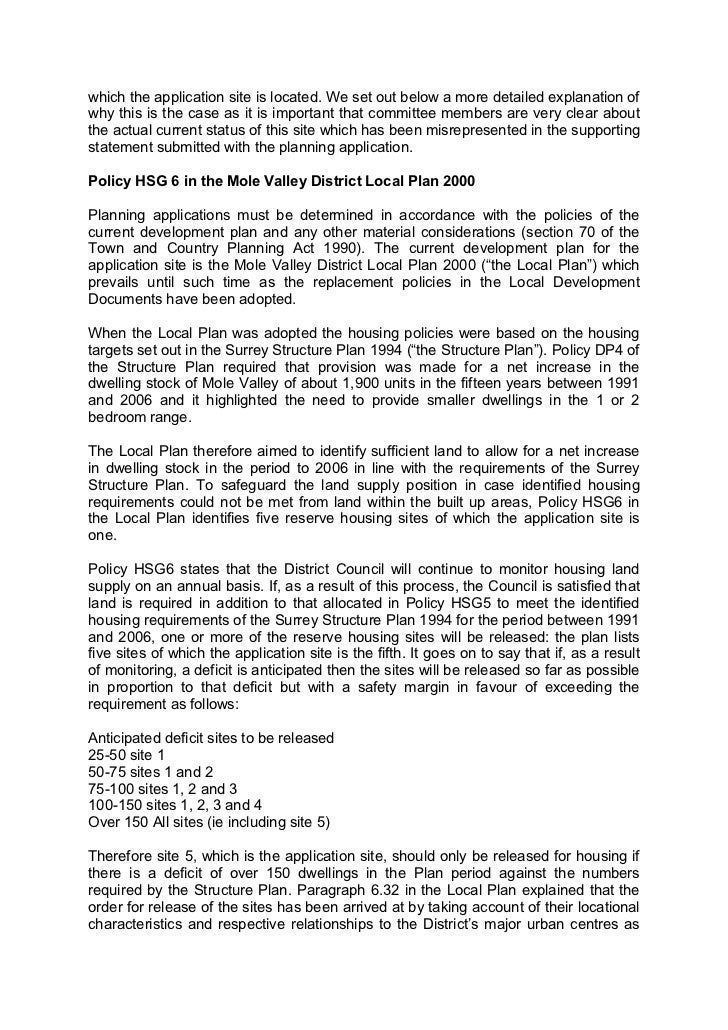 Letter Template Planning Permission. 2  which the application Letter to council 31 may 2011
