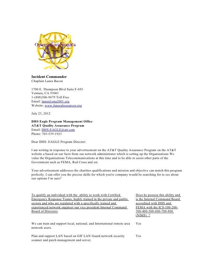 Incident CommanderChaplain Laura Bacon1700 E. Thompson Blvd Suite F-693Ventura, CA 930011-(888)306-9679 Toll FreeEmail: la...