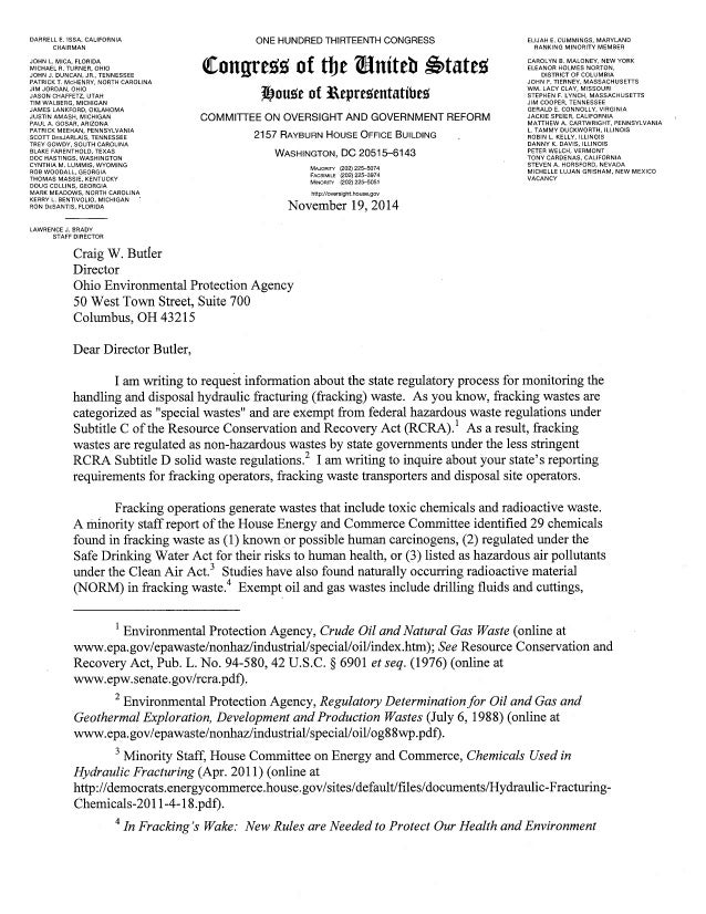 letter to oh from congressman matt cartwright requesting