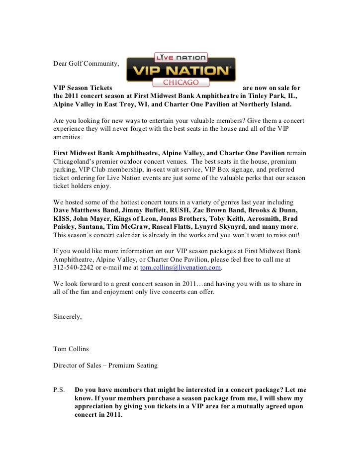 Sales Prospecting Letter to Golf Clubs 2011