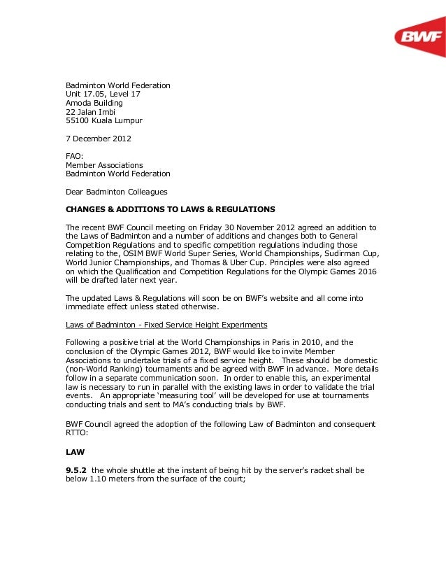 Letter To Mas Regulation Changes 7 December 2012