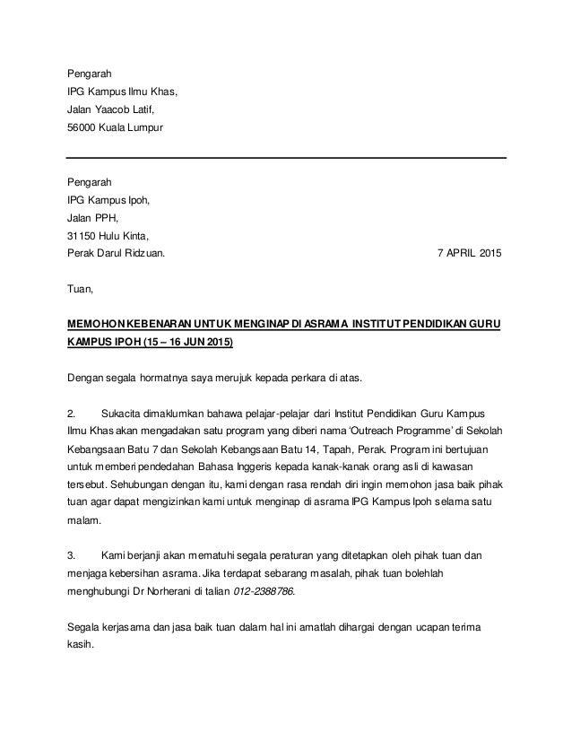 Contoh Karangan Surat Tidak Rasmi Bahasa Inggeris Spm