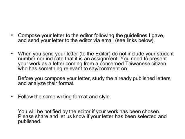 12 compose your letter to the editor