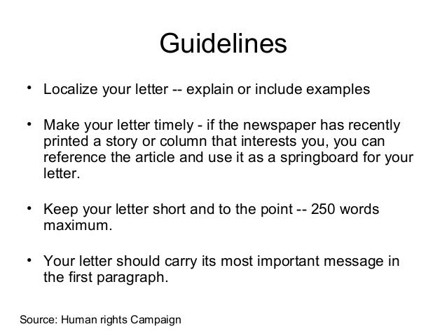 Letter to the editor 6 guidelines localize your letter explain or include examples altavistaventures Choice Image