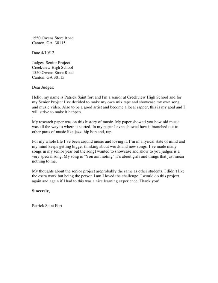 addressing a judge in a cover letter - letter to the judges format 2011 12