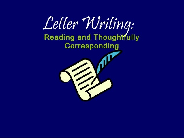 Formal Letter Writing Ppt
