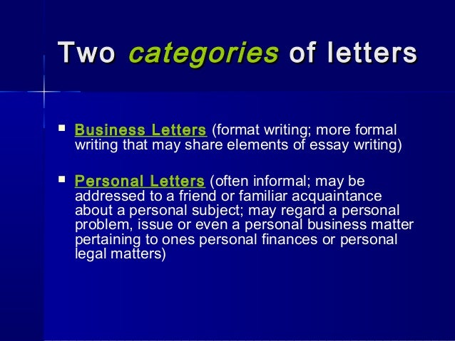 Letterwriting ppt 10 two categories of letters business letters format writing spiritdancerdesigns Choice Image