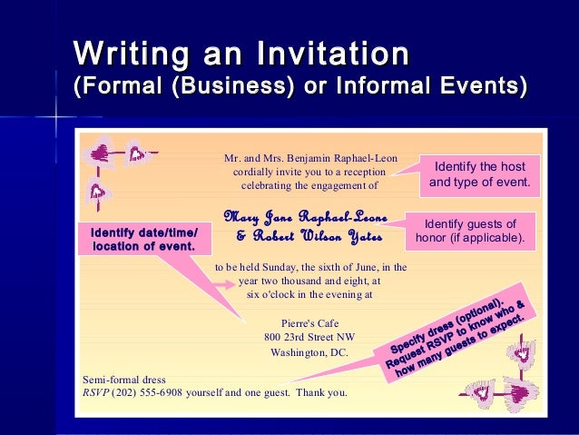 Letterwriting ppt writing an invitationformal altavistaventures Image collections