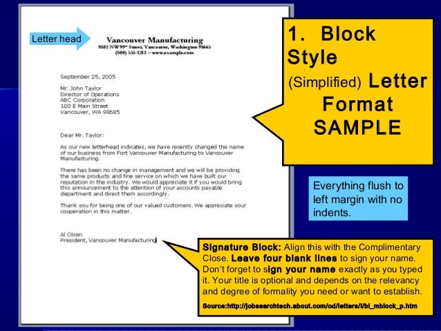 Letterwriting ppt letter head 1 block altavistaventures Image collections