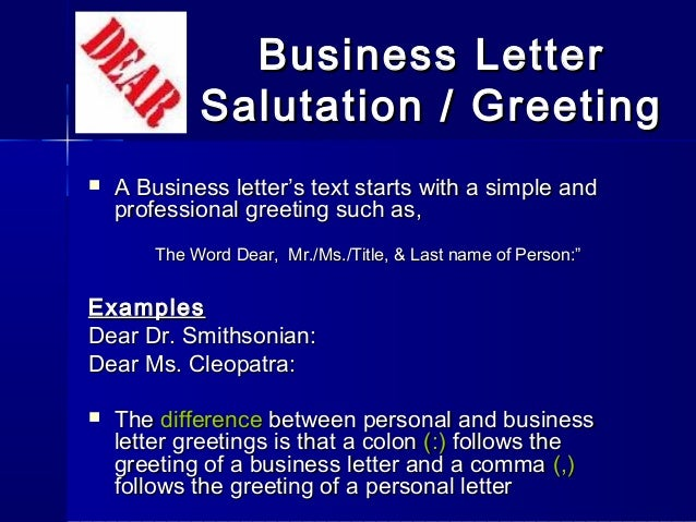 Letterwriting ppt 29 business letter salutation m4hsunfo