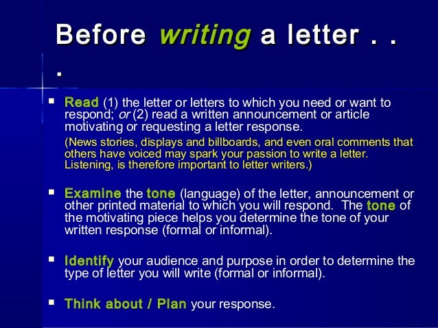 Business letter writing tips |authorstream.