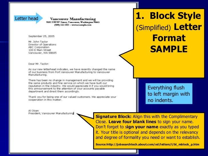 Cover Letter Full Block Format. Proper Block Letter Format ...