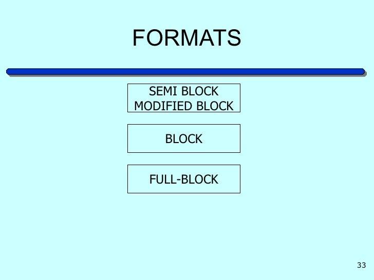 formats semi blockmodified block