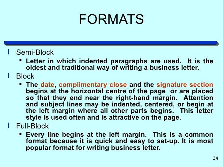 formats semi blockmodified block block full block 33 34 formatsl semi block letter