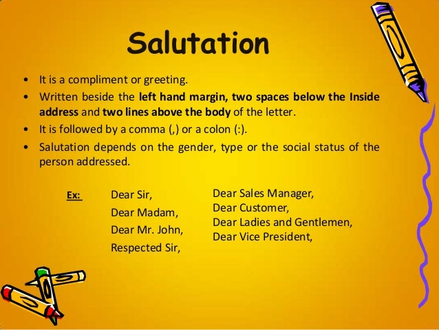 Letter Writing Format Salutation. 19  Letter writing Business Personal letter Writing format