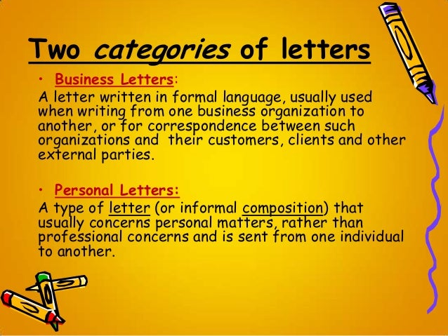 letter writing  business  personal letter writing format