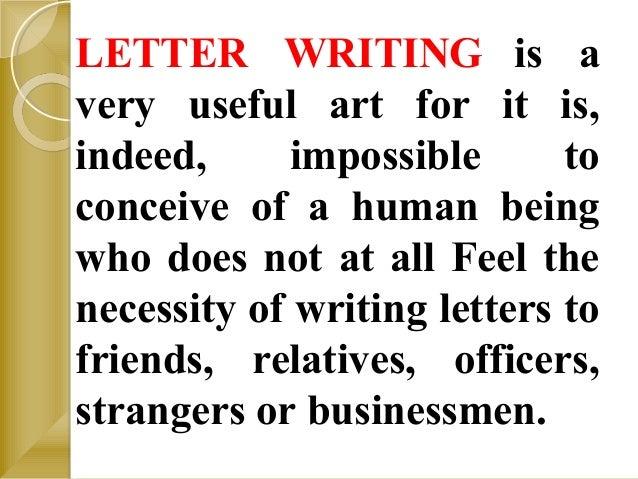 Letter writing Slide 2