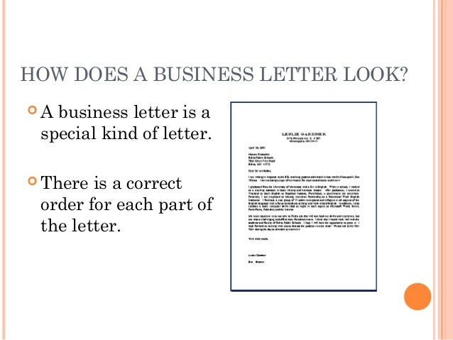 writing a business letter 11