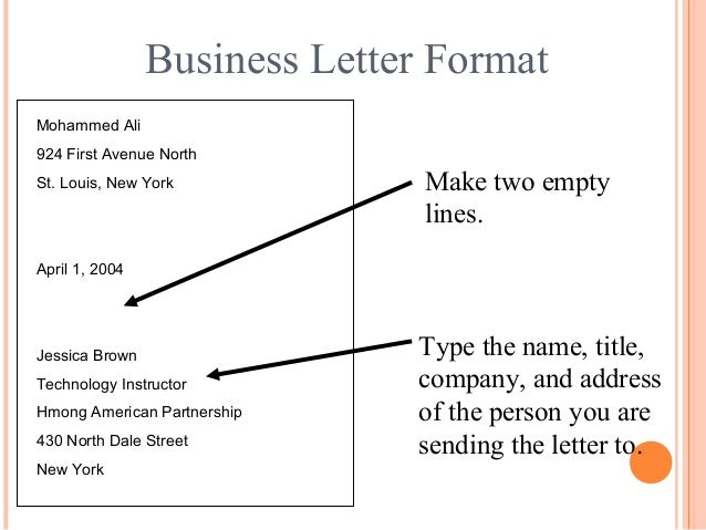 Letter writing communication skills april 1 2004 14 business letter format mohammed spiritdancerdesigns Image collections