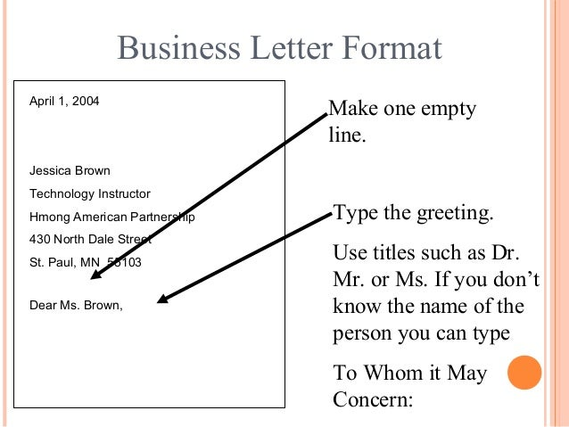 Letter Writing Format Salutation.  15 Business Letter Format writing Communication Skills