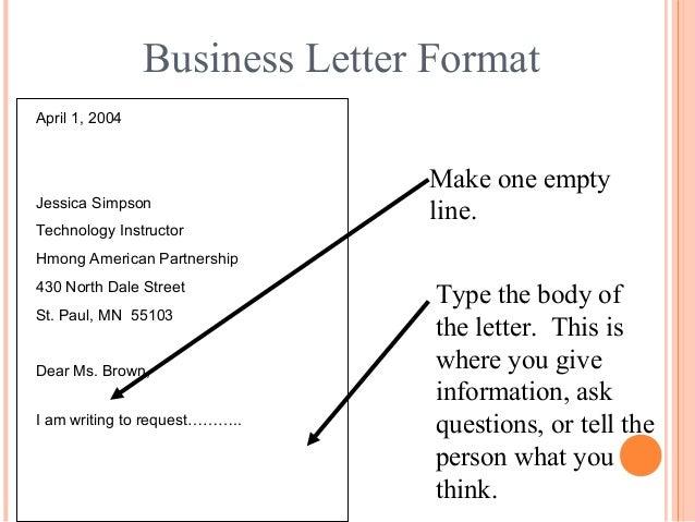Business Letter Format ...