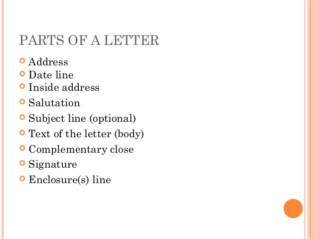 Letter writing communication skills signature 9 parts of a letter address spiritdancerdesigns Image collections