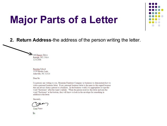 letterhead examples 7 - Personal Business Letter