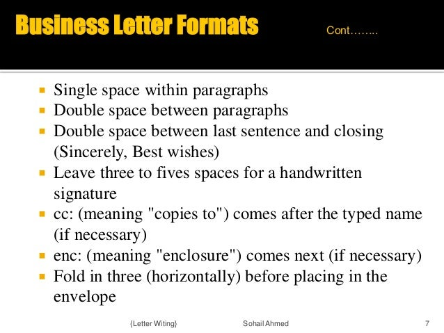Letter writing by sohail ahmed 7 business letter formats spiritdancerdesigns Gallery