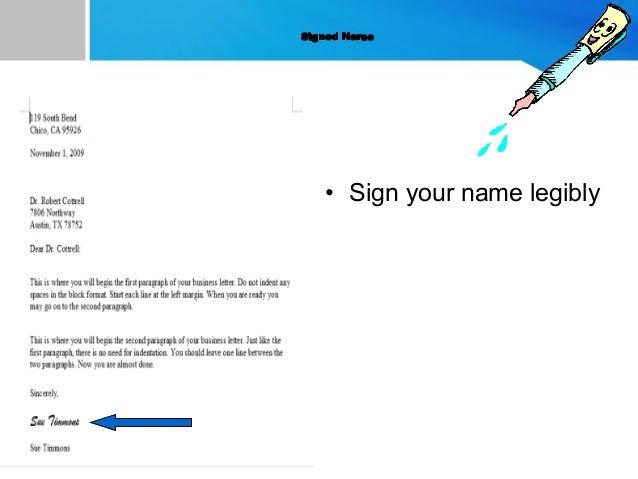 Letter writting sign your name legibly 13 spiritdancerdesigns Images